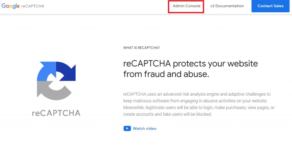 reCAPTCHAサイト