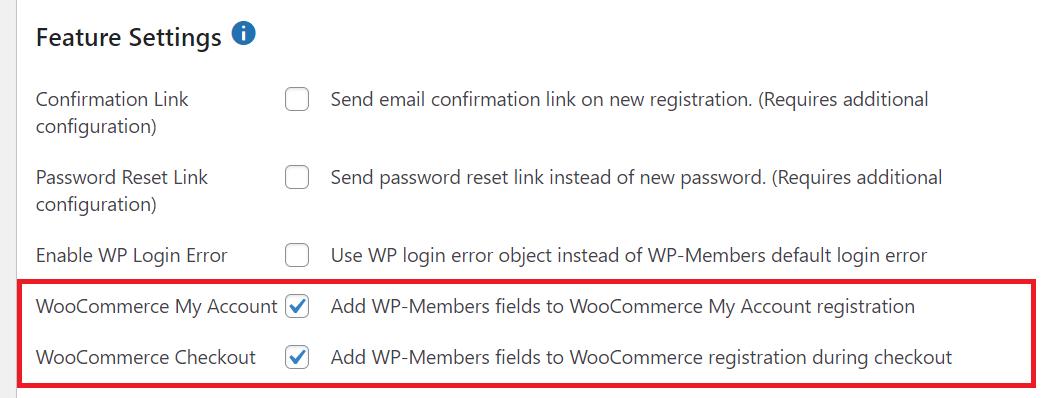 WP-Membersの管理画面設定 バージョン3.3.8から追加になったWooCommerceの設定