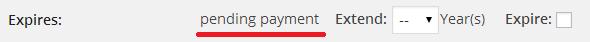 サブスクリプション支払い前のユーザステータス